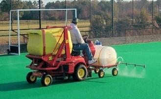 Spray Application to Artificial Turf (http://www.sport-install.com/)